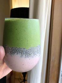Testing out my smoothie layering game